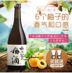 梅乃宿梅子酒日本进口青梅酒720ml梅酒甜酒女士果酒原装日本梅酒