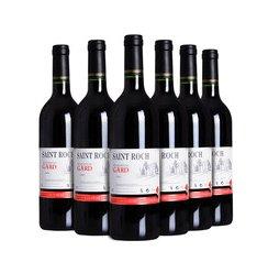 法国原装进口红酒 圣洛克嘉德干红葡萄酒6瓶整箱实惠装 特价包邮