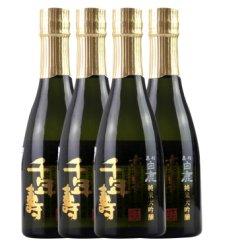 【3件打折】黑松白鹿 清酒 日本原装进口 豪华千年寿纯米大吟酿清酒 箱装 黑松白鹿豪华千年寿300ml*4瓶