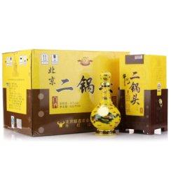 牛栏山经典二锅头黄瓷黄龙清香型白酒 45度 500ml*6/整箱装