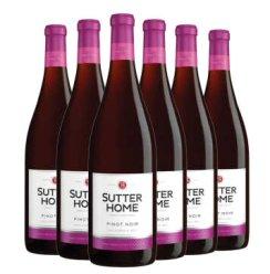 美国进口红酒葡萄酒 舒特家族系列葡萄酒 黑品乐六支装