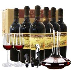 长城干红 红酒三星四星五星干红葡萄酒整箱 长城红酒礼盒装 四星赤霞珠-750ml*6瓶 整箱