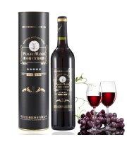 PENGFEI MANOR金色葡园红酒圆筒礼盒装珍藏版橡木桶陈酿干红葡萄酒(单只装)