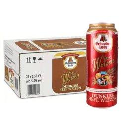 《【京东自营】施瓦本啤酒 小麦黑啤酒 500ml*24听 72.42元(双重优惠)》