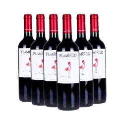 【超市红酒】智利原瓶原装进口海外直采安第斯火烈鸟经典干红葡萄酒 经典赤霞珠超值整箱装|六支装