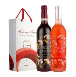 原瓶进口红酒 法国爱之花干红 桃红套装 750ml*2