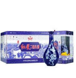 红星二锅头蓝花瓷珍品 清香型白酒 52度 500ml*6整箱装