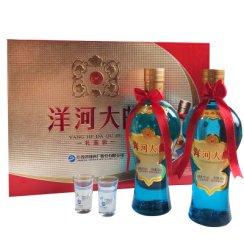 洋河(YangHe)洋河大曲(天蓝瓶)52度500ml*2礼盒装浓香型白酒(新老包装随机发货)