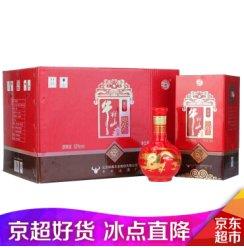 【正品保真】牛栏山二锅头 百年红10 浓香型白酒 52度  500ml*6瓶 整箱白酒 礼盒装 52度