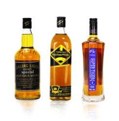 聚藏 洋酒40%VoL 700ml 【3瓶组合装】狮王+卡沙款+琥牌威士忌