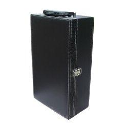 双支高级葡萄酒礼盒(黑色)+手提袋