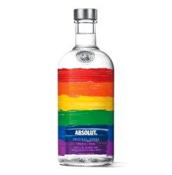 瑞典伏特加洋酒Absolut Vodka绝对伏特加限量版珍藏版  (行货带二维码) 骄傲(彩虹)限量版 700ml