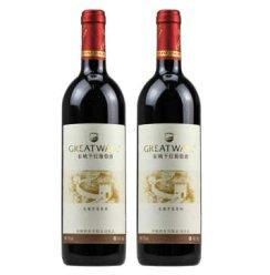 华夏红酒 大众干红葡萄酒12度750ml*2瓶