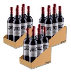 法国原瓶进口超级波尔多 圣法德斯庄园干红葡萄酒分享装750ml*18