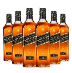 【6支装】宝树行 尊尼获加黑牌700ml*6 调配型苏格兰威士忌原装进口洋酒 700mL
