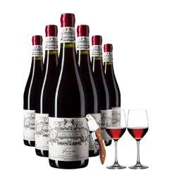法国原瓶原装进口红酒整箱6支装15度老藤干红葡萄酒正品送酒具