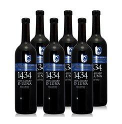 雷拉斯原装进口红酒1434TEMPRANILLO原瓶干红葡萄酒6瓶整箱特惠装