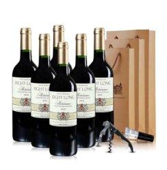 法国进口红酒 巴龙波尔多干红葡萄酒750ml*6 整箱