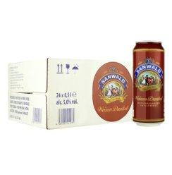德国进口啤酒圣瓦德斯图加特(Sanwald)乡村小麦黑啤 整箱装/500ml*24