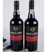 波特酒葡萄牙原瓶进口麦哲伦精选宝石红波特葡萄酒 双支礼盒装