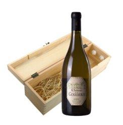法国进口安茹 村庄级AOC 法国吉娜利古堡安茹干白葡萄酒 750ml 配木质礼盒 送礼佳选
