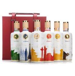 五粮液股份出品 五粮国宾 套酒(彩装)浓香型白酒礼盒 52度 500ml*6瓶 (含套酒皮盒)
