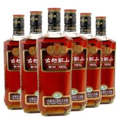 古越龙山绍兴黄酒花雕酒糯米酒 封坛五年陈礼盒装500ml*6瓶整箱装
