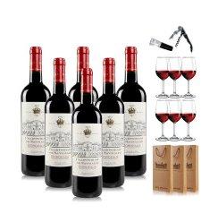 法国进口红酒 查特娜塔莉波尔多AOC级干红葡萄酒750ml*6 整箱