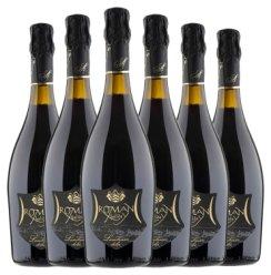 意大利进口lambrusco红酒低醇起泡酒婚庆情侣女士果酒甜葡萄酒750ml瓶 整箱6支装+6个礼袋