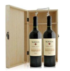 阿根廷 诺顿庄园马尔白克红葡萄酒双支礼袋装