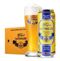 《【京东自营】奥丁格 小麦白啤酒 500ml*24听 134.4元(需用券)》
