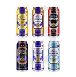 【全年畅饮】奥丁格德国进口啤酒500ml*24听*12整箱4种口味任选