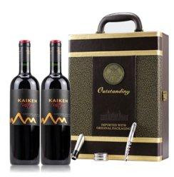 【俺买酒】阿根廷开肯极品赤霞珠2009干红葡萄酒750ml*2瓶双支礼盒