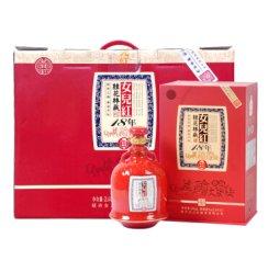 绍兴黄酒 女儿红花雕酒 桂花林藏 500ml 礼盒 十八年(18年)四瓶整箱