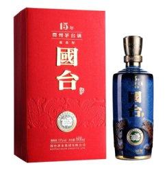 贵州国台白酒53度600ml 国台十五年酱香型白酒