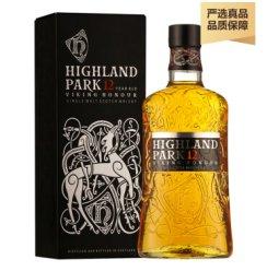 酒牧旗舰店 高原骑士奥克尼(Highland Park)单一麦芽威士忌 原装进口洋酒 高原骑士12年700ml