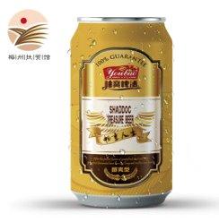 【梅州扶贫馆】柚寶啤酒 金柚原浆啤酒 柚甘味啤酒 330ml听 6听装