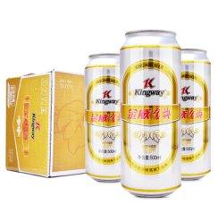 金威啤酒(Kingway)金典啤酒10度500mL*12听整箱装(雪花旗下)