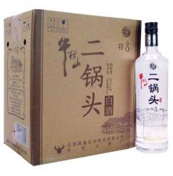 牛栏山二锅头酒光瓶 白酒 特制8年45度八年700ml*6瓶整箱
