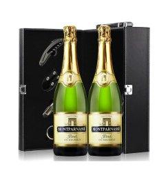 法国红酒 原瓶进口 巴黎之光起泡酒 葡萄酒750ml*2 双支红酒礼盒