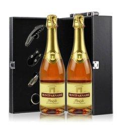 法国原瓶进口 巴黎之光(玫瑰红)起泡酒/葡萄酒 12度750ml 双支礼盒装