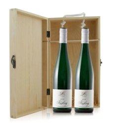 德国 露森庄园雷司令白葡萄酒双支松木礼盒装