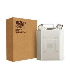 燃点 52度浓香型白酒  不锈钢酒壶 五粮固态发酵  500ml 单瓶装