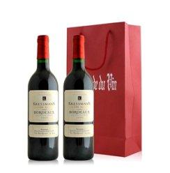 法国 科瑞丝曼波尔多珍酿红葡萄酒双支礼袋装