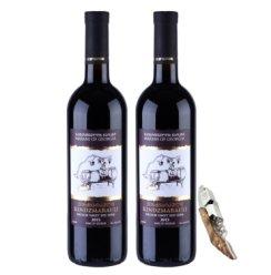 格鲁吉亚•玛拉尼系列原装原瓶进口 金兹玛拉乌拉 半甜 红葡萄酒 双支装