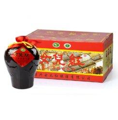 女儿红 绍兴黄酒花雕酒 三年陈陶坛1.0L*6瓶整箱装
