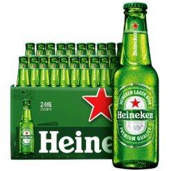 《【京东商城】Heineken 喜力啤酒 250ml*24瓶 126.87元(双重优惠)》