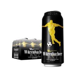 德国进口 瓦伦丁 (Wurenbacher) 黑啤 啤酒 500ml*24 听 整箱装 焦香浓郁