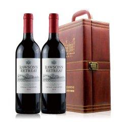 澳洲原瓶进口红酒 奔富洛神山庄设拉子加本力干红 750ml*2 双皮盒