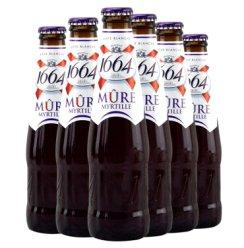法国原装进口1664啤酒 克伦堡1664系列啤酒 1664蓝果(蓝莓)啤酒250ml*6瓶